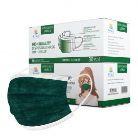 Annie ASTM Level 3 made in Hong Kong Dark Green disposable mask