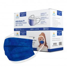 Annie ASTM Level 3 made in Hong Kong Dark Blue disposable mask