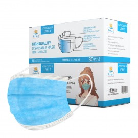 Annie ASTM Level 3 made in Hong Kong blue disposable mask