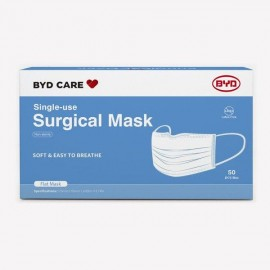 BYD Care Single-use Surgical Mask ASTM F2100 LV2, Type IIR (50PCs/Box)