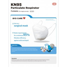 BYD Care KN95 Particulate Respirator 3D Mask (50PCS/Box)