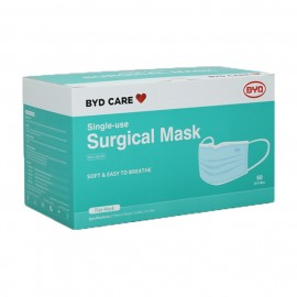 BYD Care Single-use Surgical Mask ASTM F2100 LV3, Type IIR (50PCs/Box)