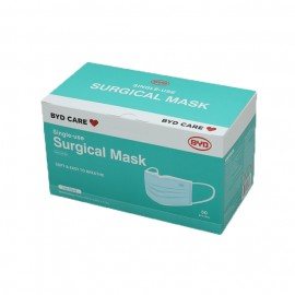 BYD Care Single-use Surgical Mask ASTM F2100 LV3, Type IIR (30PCs/Box)