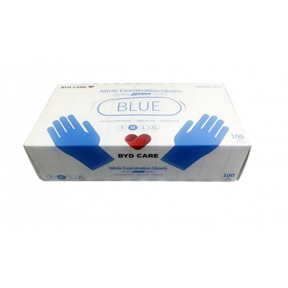 BYD Care Nitrile Examination Gloves (100 PCs/Box)